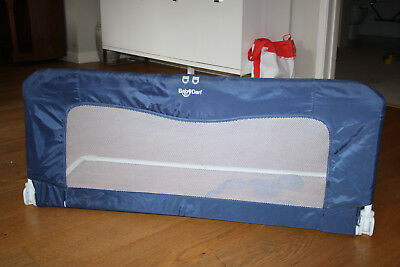 baby dan bed guard, blue, inc user guide, collapses for easy storage
