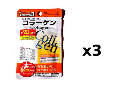 NEW DAISO Made in JAPAN Collagen Supplement 20days x 3 packs