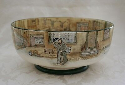 Rare Royal Doulton Dickens Ware Large 26Cm Footed Bowl