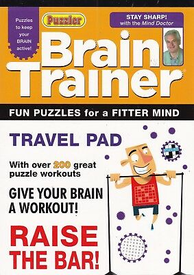 Puzzler Brain Trainer Travel Puzzle Pad - Fun Puzzles For A Fitter Mind