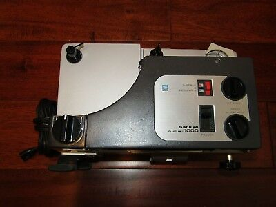 Sankyo Dualux 1000H Dual 8mm Movie Projector with Variable Speed