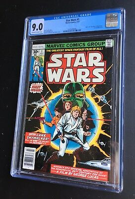 Marvel STAR WARS 1 1977 1st Print CGC 9.0 OW-W Pages
