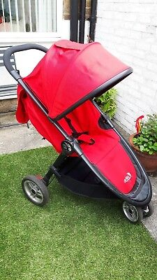Used Baby Jogger City Lite Stroller Single Red
