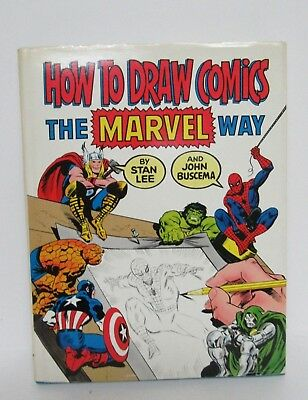 1978 How to Draw Comics the Marvel Way~Stan Lee  HardCover 1st Ed., 4th Printing