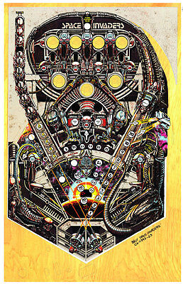 BALLY SPACE INVADERS Pinball Machine Playfield Overlay