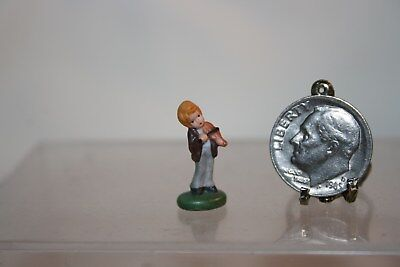 Miniature Dollhouse Carol Pongracic Porcelain Figurine Boy Playing Violin 1:12