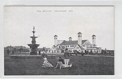 People By Fountain & Pavilion Esplanade Ayr Early 1900's ETW Dennis 31 Post Card