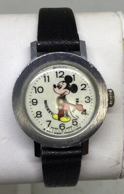 Walt Disney Mickey Mouse Wrist Watch With Leather Band