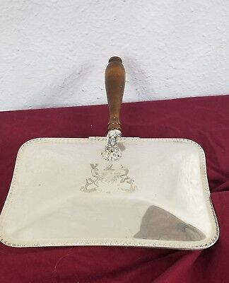 """Antique Silver Plated F. B. Rogers Ash Box/Catcher Inscribed """"MAJOR AB ADVERSIS"""""""