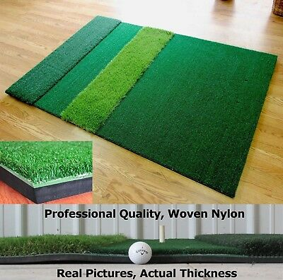 Golf Mat Practice Commercial Grade Driving Range Padded Golf Mat 4x6 or 5x5 Turf