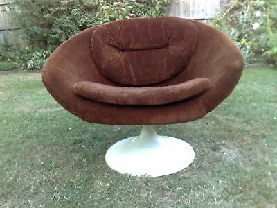 vintage retro overman sweden round egg chair swivel brown 1960's 1970's swedish