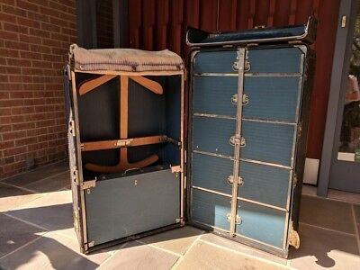 US Navy Cushion Top Steamer Trunk by Hartmann with Key