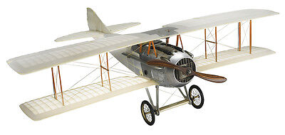"""WWI Spad Transparent Biplane Model 24"""" Wooden Hanging Airplane Home Decor"""