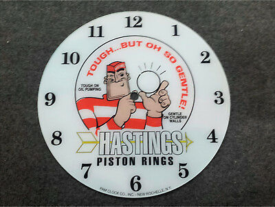 """*new* 14.25"""" Hastings Rings Hot Rod Rd Glass Face Pam Clock"""