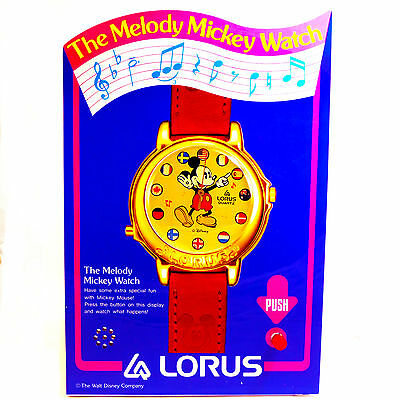 Mickey Mouse Musical, Melody Watch Counter Top Display, HTF Collectible Just $49