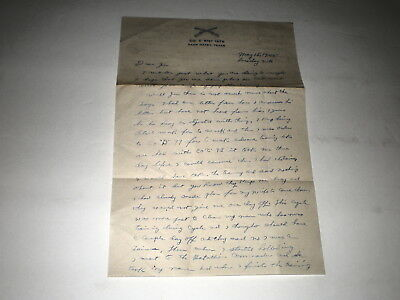 1945 Wwii Soldiers Letter From Co.c  81St. Iatb/camp Maxey,texas
