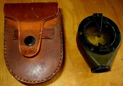 Antique ? Marching Compass With Case