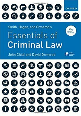 Smith, Hogan, & Ormerod's Essentials of Criminal Law by Ormerod, David Book The