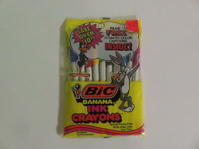 Bic Banana Ink Crayons-1979-Sealed 10 Pack-Bugs Bunny-Daffy Duck-Gorgeous Colors