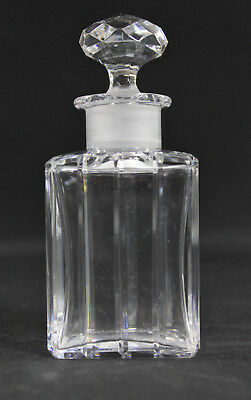 Baccarat Harmonie Crystal Cut Glass Perfume Scent Bottle w/ Stopper, Anka Estate