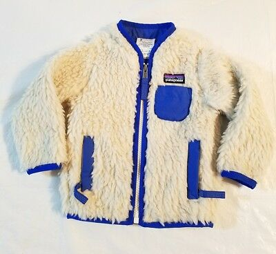 Patagonia Retro X Jacket Baby  Size 6 Months Blue Wind Proof       W