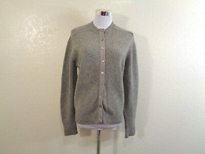 60s MISS GOTHAM GRAY WOOL MADE IN BRITISH HONG KONG FULLY FASHIONED CARDIGAN S