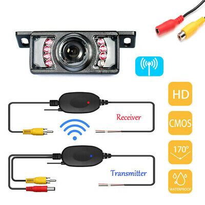 Wireless Car Backup Rear View Reverse Parking HD Camera Night Vision Waterproof