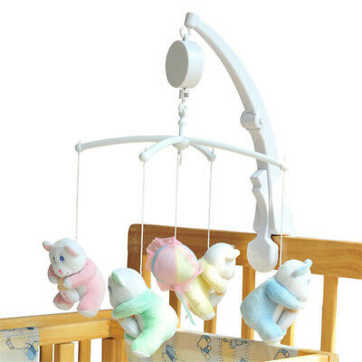 Bed Crib Baby Infant Box Mobile Nursery Rotary Hanging Music Toddler Bell Cord