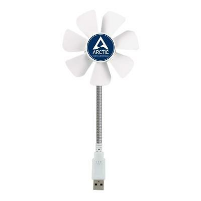 Arctic Breeze Mobile Usb Powered 92Mm Portable Fan Cooling Solution White 3.84oz