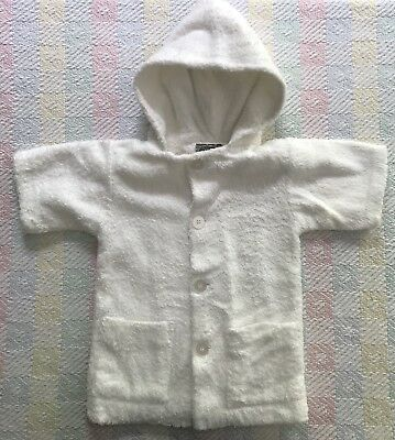 Girl's Boy's 4T Vintage TOM & JERRY White Cotton Terrycloth Hooded Beach Coverup