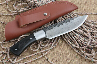 """Sharp Full Tang 59Hrc""""Forging Pattern Steel"""" Hunting Bowie Survival Rescue Knife"""