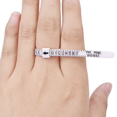 Ring Sizer Measure Finger Gauge For Wedding Ring Band Engagement Ring 6D Pip