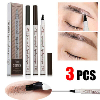 Eyebrow Tattoo Pen Waterproof Fork Tip Sketch Makeup Pen Microblading Ink Beauty