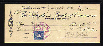 8U972 - 1941 Canadian Bank Of Commerce - New Westminister, B.c.