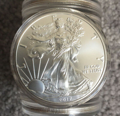 LOT OF 10 2017 American Silver Eagle $1 Silver Dollar
