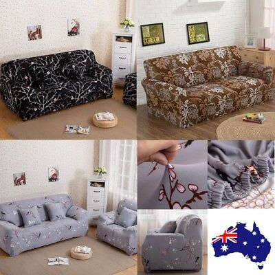 Elastic 1 2 3 Seater Sofa Cover Stretch Furniture Protector Couch Slipcover AU