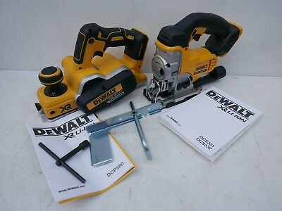 Brand New Dewalt Xr 18V Dcp580 Planer & Fence + Dcs331 Jigsaw Bare Units