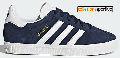 check out c07dd d3904 SCARPE BAMBINOBAMBINA ADIDAS GAZELLE - BY9162 col. blu scurobianco