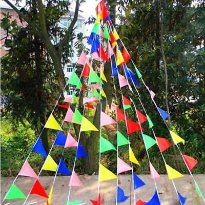 Mix Color Triangle Flags Bunting Banner Pennant Festival Wedding Party Decor B