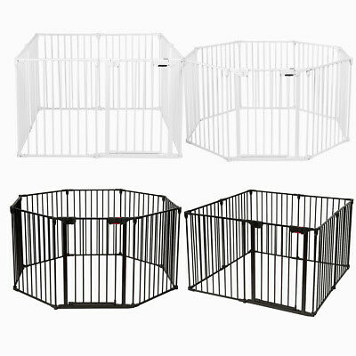 Baby Play Pen Pet Fence Playpen Foldable Room Divider Play Yard Barrier 6 Panel