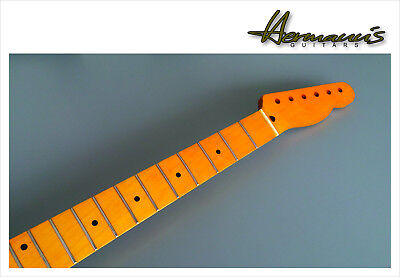 Telecaster Hals, One Piece Canadian Maple Neck, 21 Jumbo-Frets, Vintage Finish
