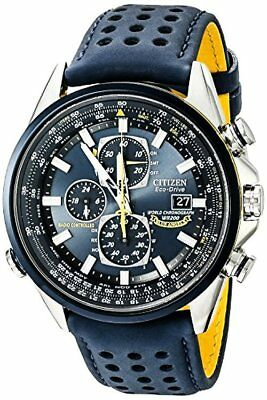 Citizen Mens Eco-Drive Blue Angels World Chronograph Atomic Timekeeping Watch W/