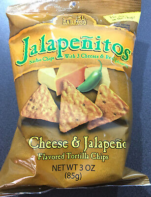 2 x El Sabroso Jalapenitos Nacho Chips 85g each bag - USA