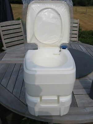 Fiamma Bipot 39 Portable Toilet Flush Camping Fishing Home Chemical Toilet