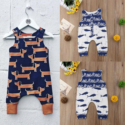 AU Infant Kid Toddler Baby Boy Girl Romper Jumpsuit Animal Outfits Clothes 0-18M