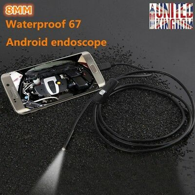 5M 6LED Waterproof USB Endoscope Borescope Inspection HD Camera for Android UK