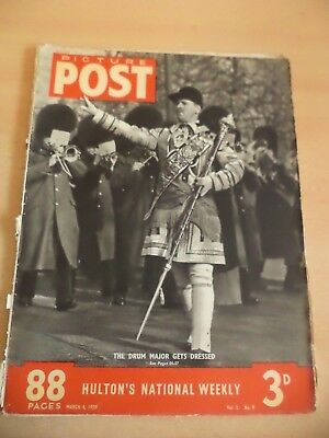 PICTURE POST OLD VINTAGE MAGAZINE 4 march 1939 lyons nippy tyneside drum major