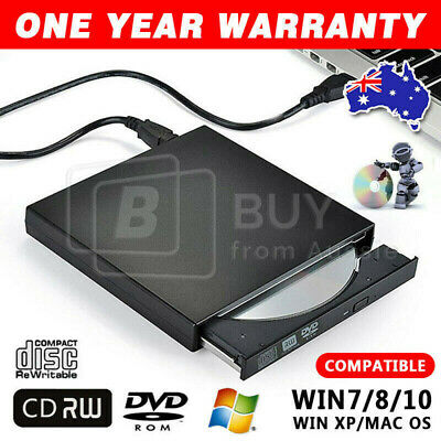 USB 2.0/3.0 Slim Portable External DVD/RW CD Combo Drive Burner Reader Player AU