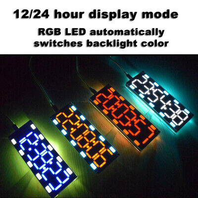 6 Digit LED Digital Desk Alarm Clock DIY Electronics Kits Time Temperature Date