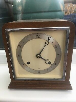Stunning Mahogany Cased Elliott Clock Time And Strike